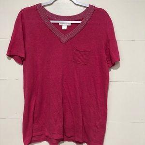 Christopher & Banks Pink Shirt